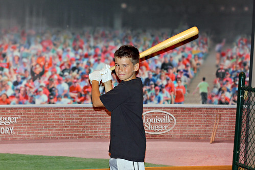D11 Joey with Mantle's bat