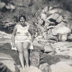 Mum at Pearl Beach