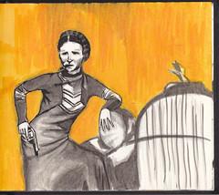 Bonnie Elizabeth (Jim_V) Tags: gangster doodle bonnieparker
