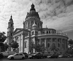 St Stephen's Basilica (Dmitry Shakin) Tags: sky tower church hungary cathedral basilica budapest dome apse sloud