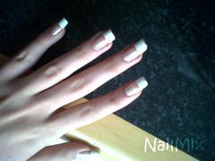 Francesinha básica (Hizome) Tags: art mix nail unhas branca unha colorama francesinha