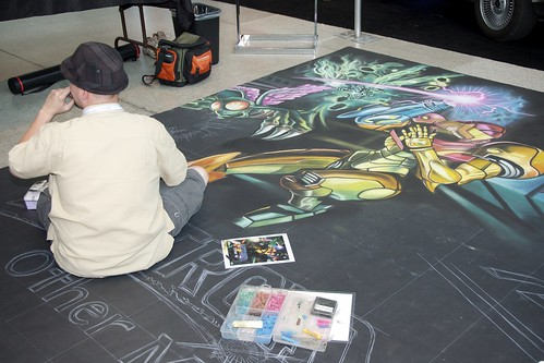 Chalk art promotional for Metroid Other M