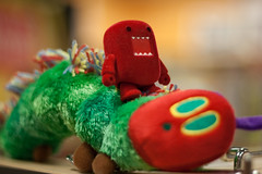 Marinara goes for a ride with the Very Hungry Caterpillar (Chris Gritti) Tags: red kids book eric very caterpillar domo hungry carle
