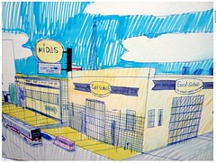 Wesley Willis: Roosevelt, Clinton, and Canal, 1990: Midas Detail (danxoneil) Tags: wesleywillis