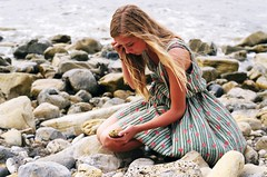 (Tommy Petroni) Tags: ocean beach water hair rocks long looking dress overcast chloe verdes palos