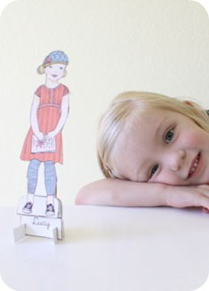 mini-me paper dolls
