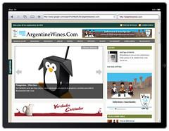 ArgentineWines.Com en IPad