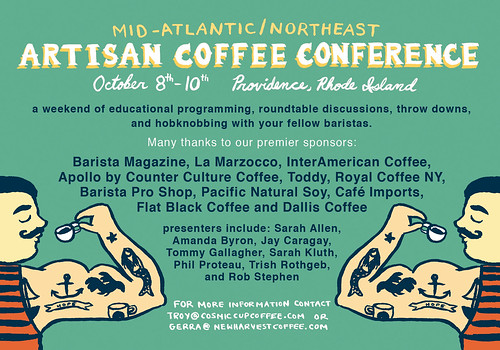 Postcard/Ad for Coffee Conference