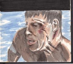 The Swimmer (Jim_V) Tags: portrait doodle swimmer burtlancaster