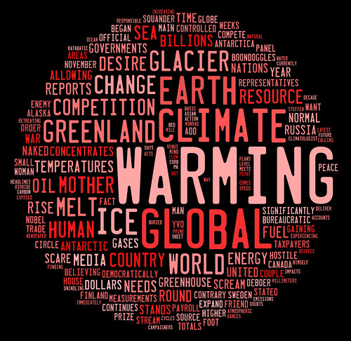 From flickr.com: global warming graphic based on word frequency {MID-235598}