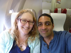 Julie and Sanjay Flying HIGH !!! ;-)