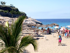 Playa del Duque, Tenerife (Tenerife Magazine) Tags: swimming spain tenerife canaryislands sunbathing sunloungers sunbeds costaadeje loscristianos playalasamericas tenerifebeaches goldensandbeaches playacamison playdelduque playfaabe