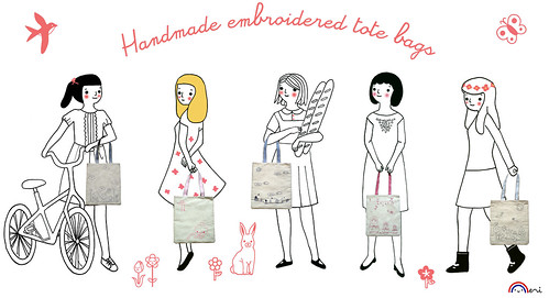 Eco-friendly Embroidered tote bags!