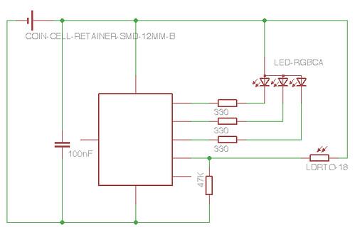 Programmable Earrings Circuit Diagram