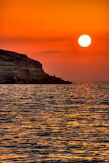 Pescatore al tramonto (socrates197577) Tags: sardegna beach nikon tramonto mare sole paesaggi hdr paesaggio photomatix mywinners