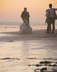 newly married photo session (jst images) Tags: california ca sunset seascape reflection beach couple romance romantic orangecounty oc huntingtonbeach hb wetreflection justimages romanticcouples jasontockey jstimages jasontockeyphotography jasontockeyimages