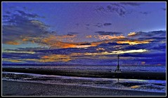Crosby Beach at night (Bryn Jones Bootle) Tags: hdr crosby merseyside sefton