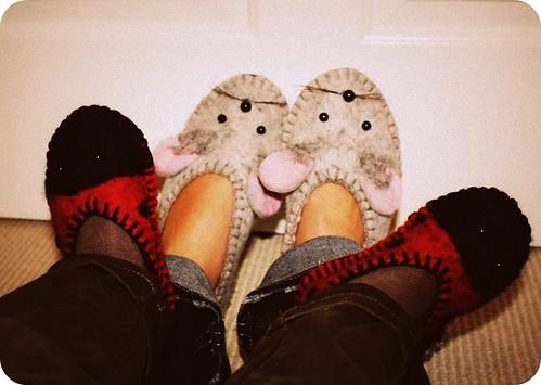 handmade slippers from estonia