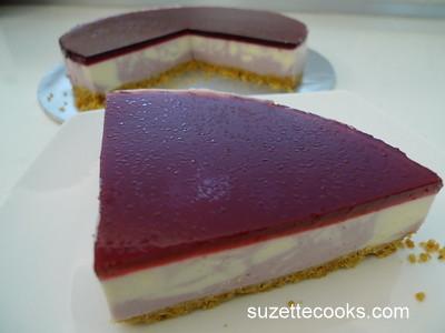 Ribena Marble Cheesecake