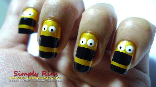 Nail Art Nailed by Bees 03