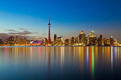 Toronto Skyline at Dusk (Christopher Brian's Photography) Tags: sunset toronto skyline night tpmg sigma1735ex canoneos7d