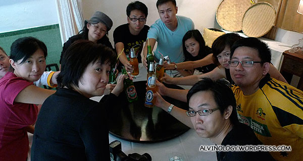 The ten bloggers - sad that this will be their last lunch together in Hong Kong