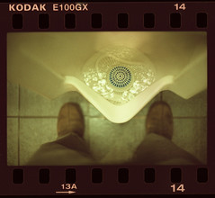 Public Urinal Silence (moiht) Tags: film public canon xpro cross a1 expired urinal processed e100gx