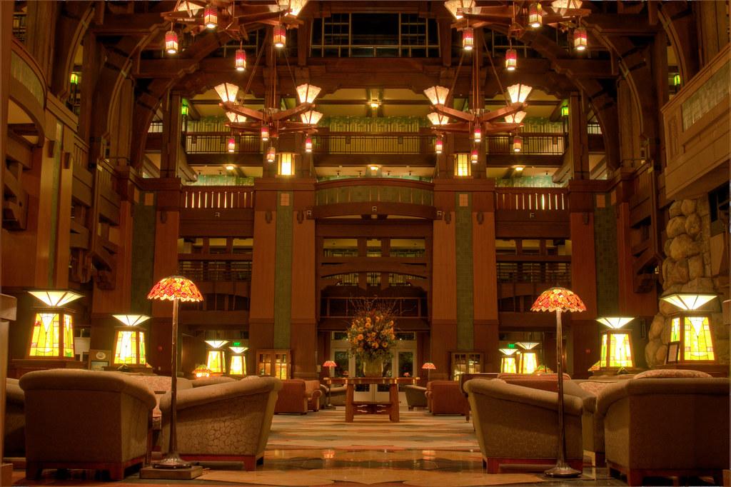 Grand California Hotel Lobby HDR Merge