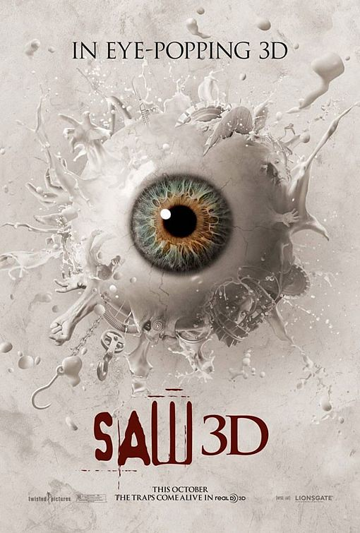Saw 3D 2010 slasher horror film saw 3D movie poster