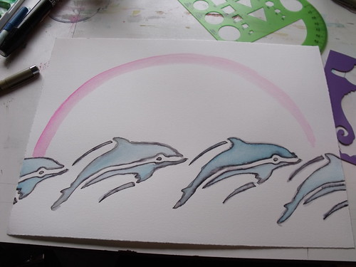 In Progress Dolphin Art