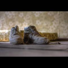 zu zweit ist man weniger allein... (maxelmann) Tags: old 2 two urban abandoned germany lost 50mm dof boots bokeh alt decay leer leipzig forgotte