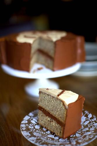 monkey cake, served