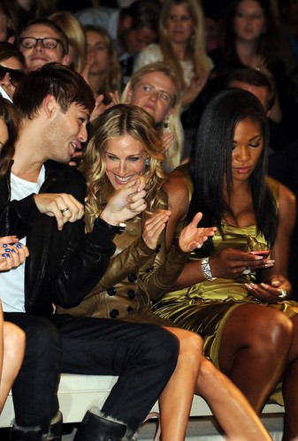Douglas Booth & Sarah Jessica Parker & Serena Williams