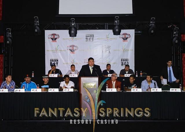 David Roosevelt at podium 2 by Fantasy Springs Resort Casino
