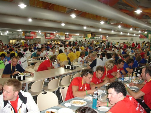 Olympic temporary kitchen and dining facilities