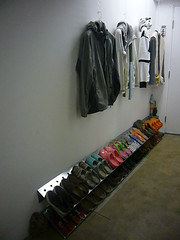 Ghost Coat Hangers (Heath & the B.L.T. boys) Tags: ikea home shoes entrance entryway entry organize mudroom thecontainerstore