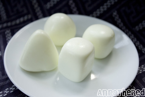 molded hard boiled eggs!