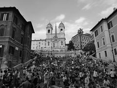 Rome : l'éscalier de la Trinité-des-Monts