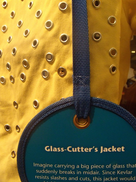 Glass Cutter's Jacket made of Kevlar, invented by Stephanie Kwolek. Photo by Wayne Stratz.