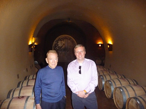 Mr. Jarvis and Marc inside the winery cave