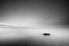 Minimal (Dan. D.) Tags: ocean sea bw white seascape black water night canon landscape long exposure noir wide minimal explore exposition 5d frontpage blanc minimalist mkii 1635mm