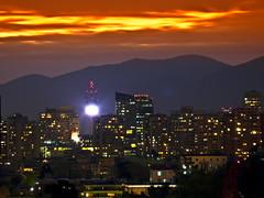 Santiago de Chile -  Puesta de sol (Fabro - Max) Tags: chile aerialview santiagodechile vistaaerea vistaaérea santiagodochile skyscrapercity regiónmetropolitana