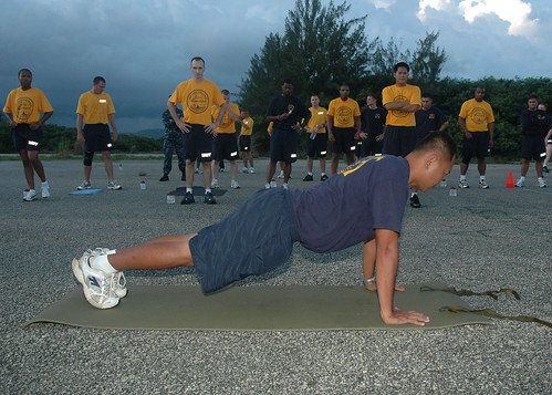 Push-Up Demonstration by US Navy