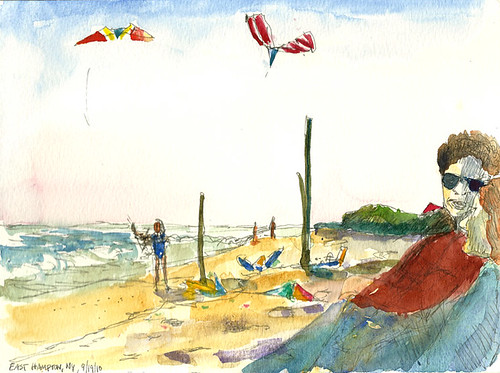 Kites on the beach, East Hampton, New York
