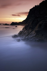 Pettycur Bay 1 (Andy Allan) Tags: longexposure sunset seascape scotland seaside exposure fife forth firthofforth burntisland d80 nikond80 eastcoastofscotland andyallan