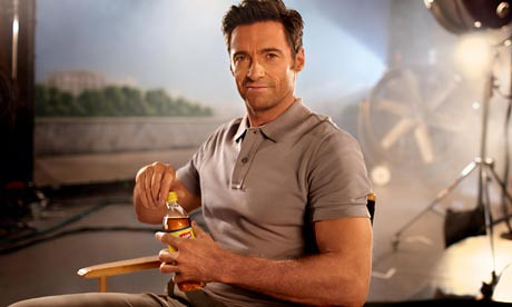 Hugh Jackman is thirsty.