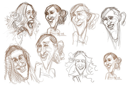 thumbnail sketches of Sarah Jessica Parker