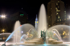 Logan Circle Fountain (MurrayH77) Tags: philadelphia night square meetup pa logan 1001nights hdr smugmug fdrtools 1001nightsmagiccity