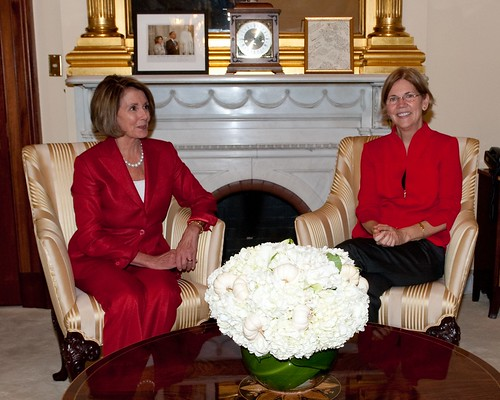 Speaker Nancy Pelosi and Elizabeth Warren