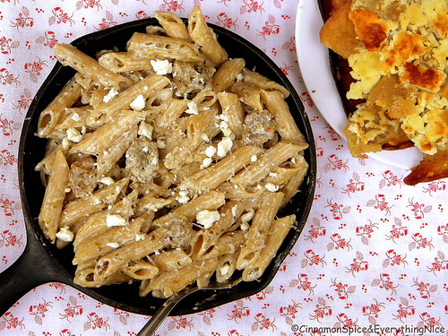 Greek Pasta with Sausage and Cheese